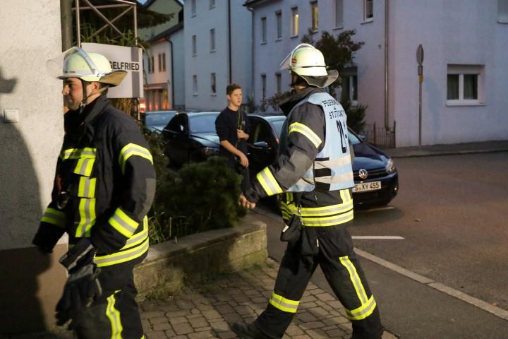 Feuerwehrübung Edelstahlverarbeitung Stuttgart